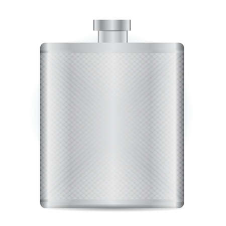 Stainless bottle  flask illustration design over white Vector