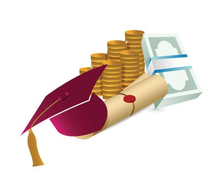 examiert: Price Leaving Certificate or training illustration design Illustration