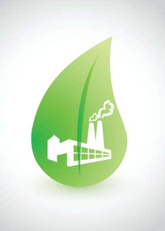 -葉イラスト デザインと環境概念