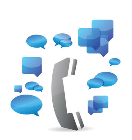 a cellphone chat concept illustration design over a white background Stock Vector - 20208536