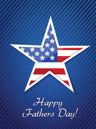 salutations: patriotic happy fathers day proud card illustration design over blue