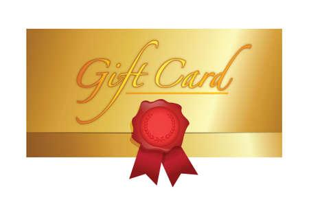 luxury gift certificate illustration design over white Vector
