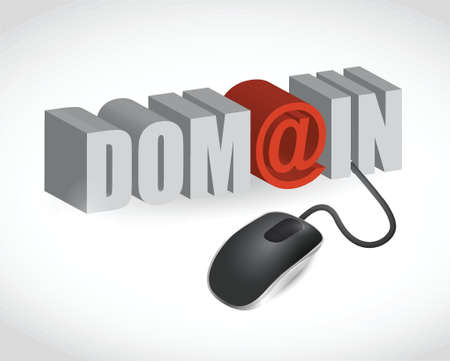 gov: domain text sign and mouse illustration design over white