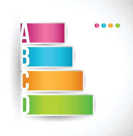 colored steps with different options and descriptions illustration design Stock Vector - 20240610
