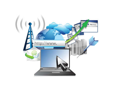 business technology internet concept illustration design over white Stock Vector - 20240657