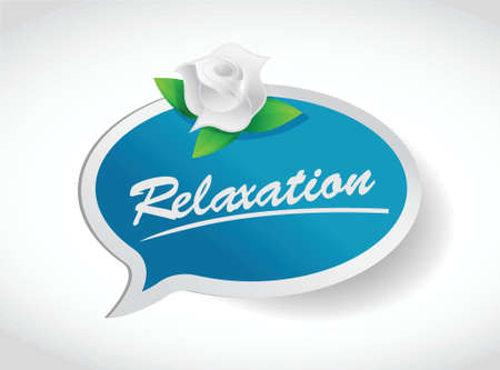 relaxation flower concept illustration design over white Stock Vector - 20240643
