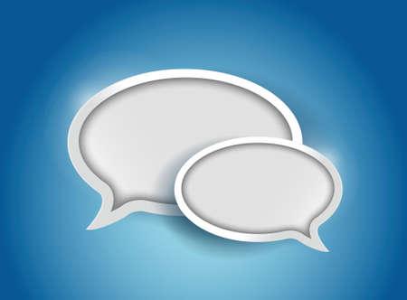 Speech bubble, communication concept illustration design