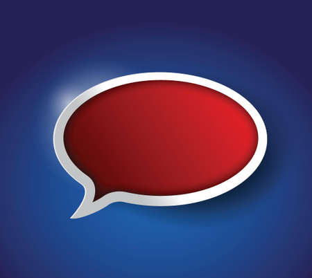 red Speech bubble, communication concept illustration design
