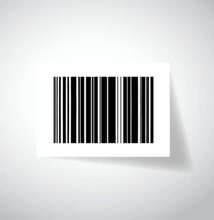 ups barcode sticker illustration design over white Vector