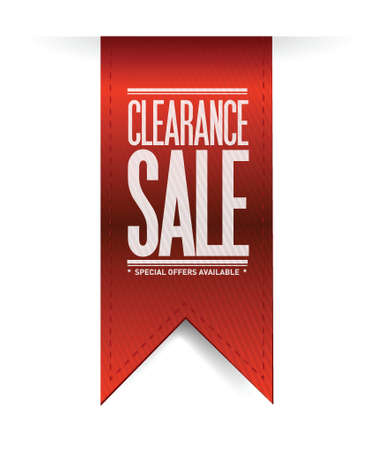 clearance sale red banner illustration design over white Stock Vector - 20387303