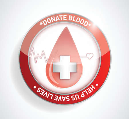 Donate blood. help us save lives illustration design Stock Vector - 20387265