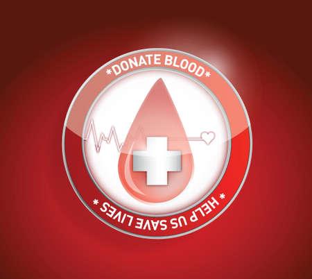 Bloed geven. ons helpen om levens te redden illustratie ontwerp Stock Illustratie