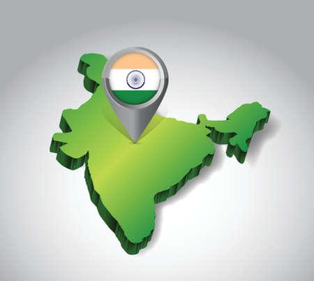 locating: locating inda concept illustration design over a white background