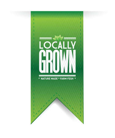 cereal box: locally grown banner concept illustration design graph over a white background
