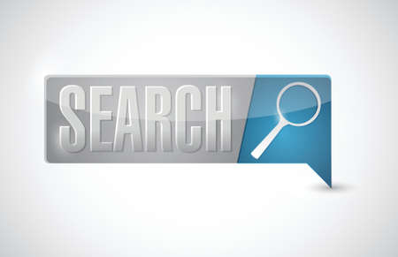 Search button illustration design over a white background Stock Vector - 20387358