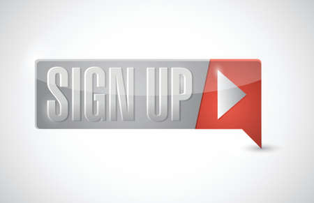 sign up button: sign up now button illustration design over white