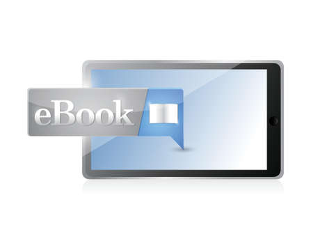 elettronic: tablet Ebook icon button blue download illustration design