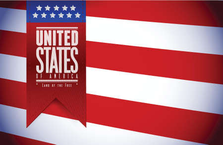 united states. usa flag banner illustration design graphic Vector