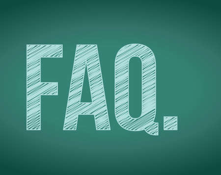 FAQ. frequently ask questions concept illustration on a board
