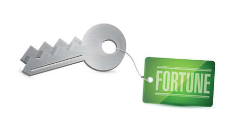 gain access: Keys To Your Fortune Concept Illustration design over white