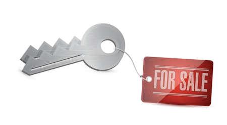 obtain: Keys for sale Concept Illustration design over white
