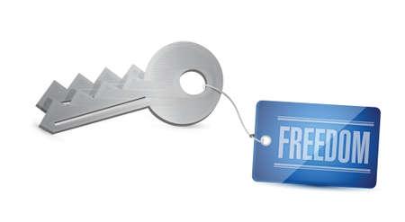 Keys of freedom Concept Illustration design over white Stock Vector - 20387318