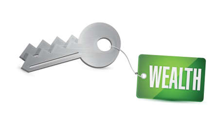 gain access: Keys to Wealth Concept Illustration design over a white background