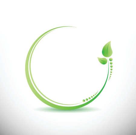 fitness business yoga symbol illustration design over white
