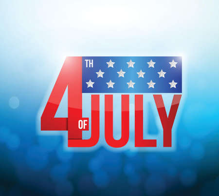 4th of july okeh abstract light background. illustration design Stock Vector - 20497328