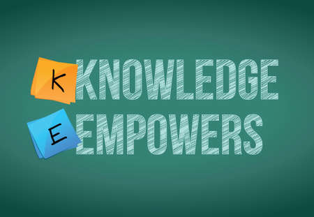 know how: knowledge empowers business concept illustration design graphic Illustration