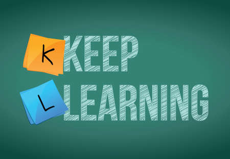 keep learning education concept illustration design graphic Vector