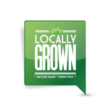 handmade soap: locally grown food sign illustration design over white Illustration
