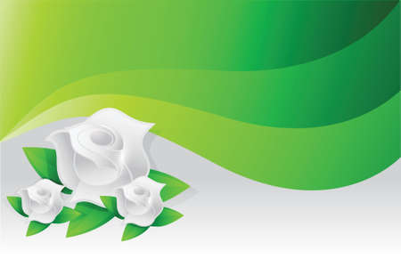 environmental green flowers illustration design graphic waves Vector
