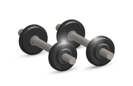 A set of dumbbells illustration design over white Stock Vector - 20510616