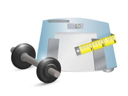 fitness concept illustration design over a white background