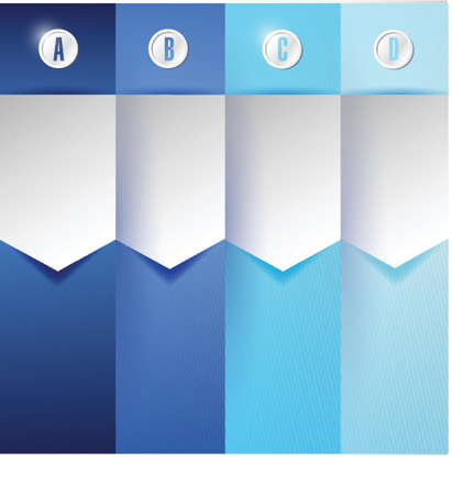 customizable blue texture Banners Infographics illustration design Stock Vector - 20510665