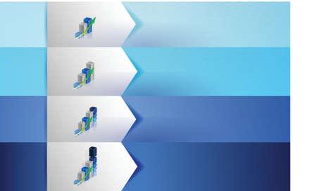 business graphs customizable blue texture Banners Infographics illustration design Stock Vector - 20510651