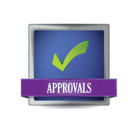 approval button illustration design over a white background Vector