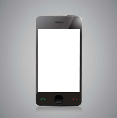 Smart phone with blank screen isolated on grey background Stock Vector - 20510589