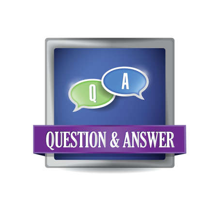 Question and answer button illustration design over white Vector