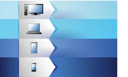 electronics customizable blue texture Banners Infographics illustration design Stock Vector - 20510650