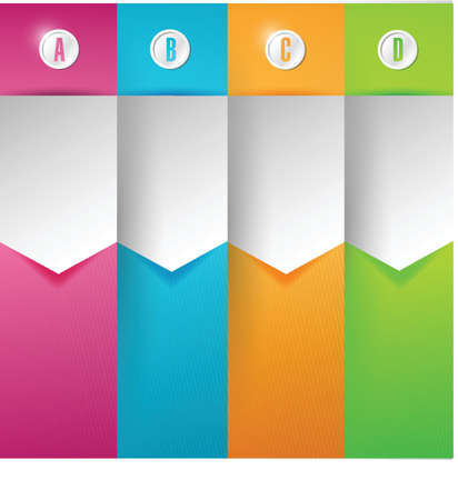 customizable colorful texture Banners Infographics illustration design Vector