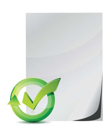 survey and check mark illustration design over white