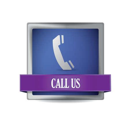 Telephone icon button illustration design over a white background Illustration