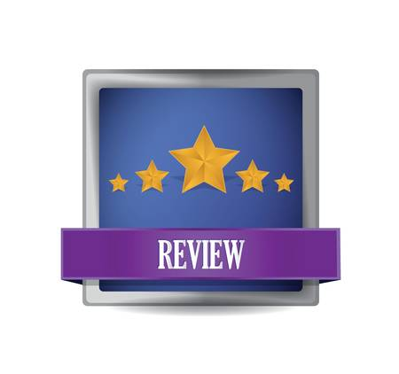 review button illustration design over a white background Illustration