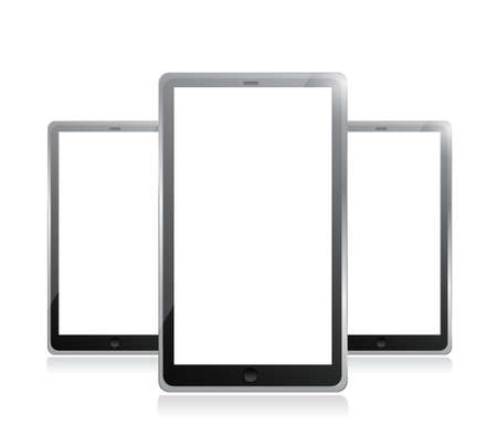 Black tablets pc illustration design on white background Stock Vector - 20510584