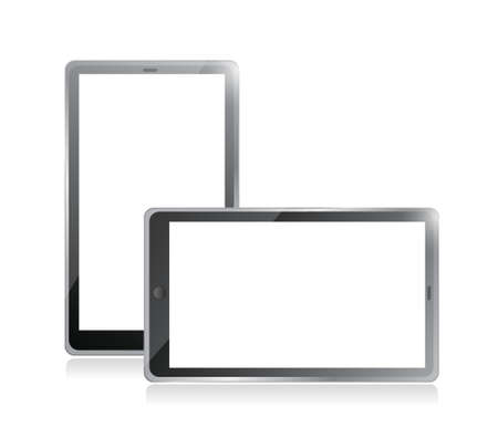 Black tablets pc illustration design on white background Stock Vector - 20510585