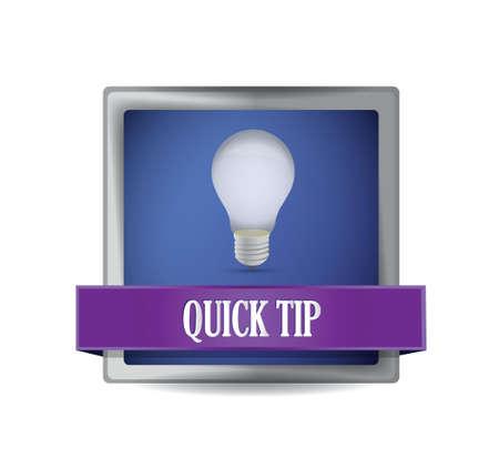 quick tip idea button illustration design over white