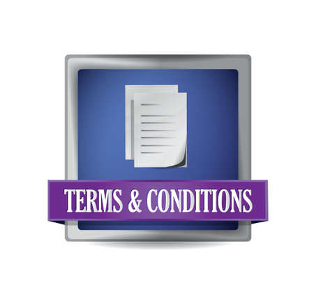 Terms and conditions illustration design over white Vector