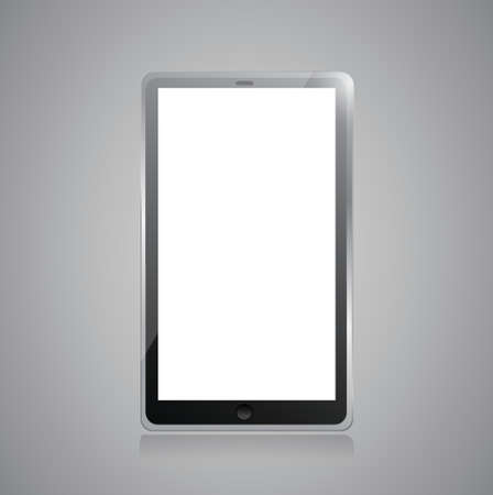 Black tablet pc illustration design on grey background Illustration